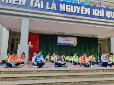 Hình ảnh học sinh tham gia dự án PLan, truyền thông thúc đẩy bình đẳng giới và bảo vệ trẻ em